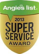 Electric Doctor's Angie's List Super Service Award 2013